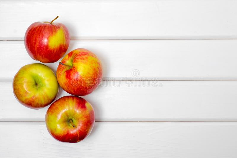 Red beautiful apples stock images