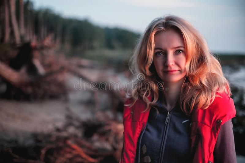 Red, Beauty, Girl, Lady royalty free stock image