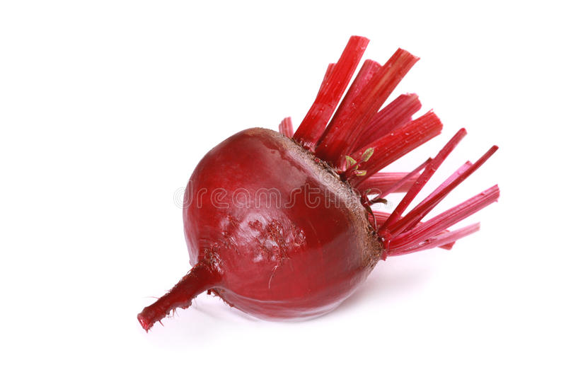 Red beet. Isolated over white stock photo