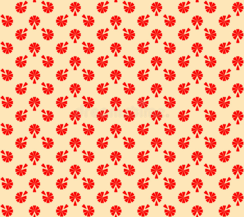 Free Red-beige Floral Texture Stock Photography - 19653392