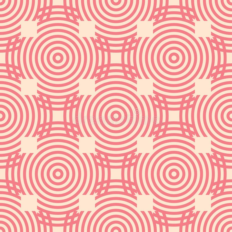 Red and beige geometric ornament. Seamless pattern royalty free illustration