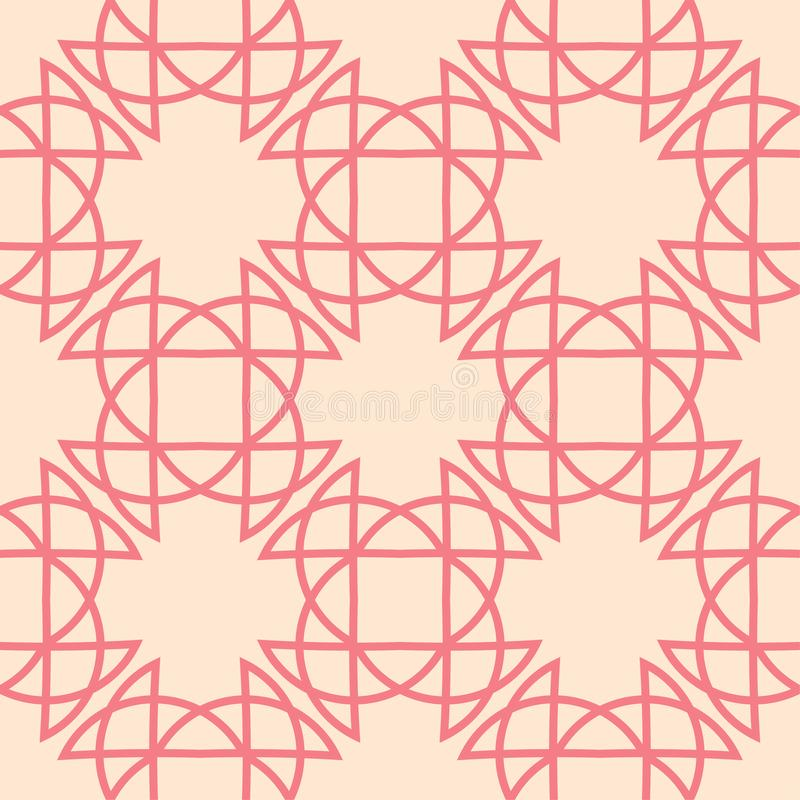 Red and beige geometric print. Seamless pattern royalty free illustration