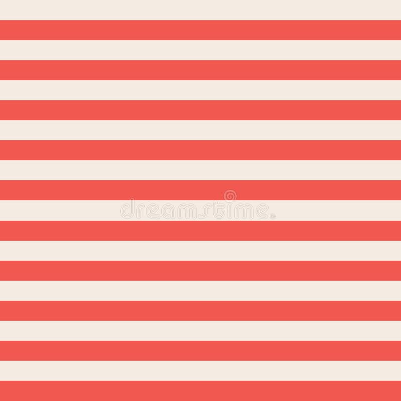Red and beige horizontal stripes seamless vector background stock illustration