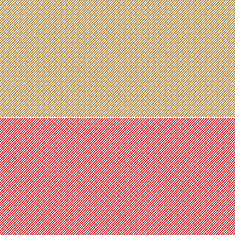 Download Red And Beige Small Print Gingham Style Background Stock Illustration - Image: 28388343