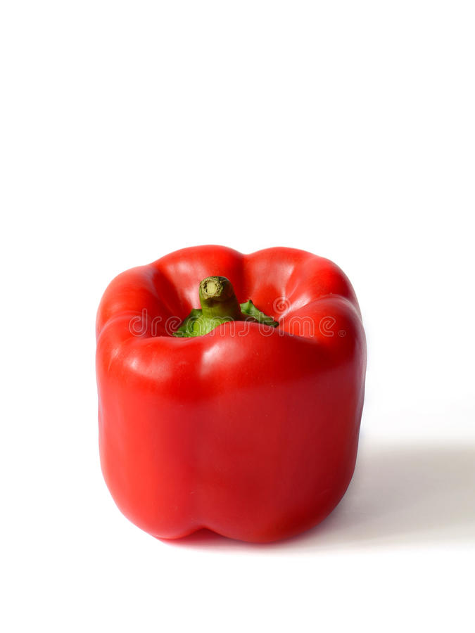 Red Bell pepper. On a white background royalty free stock images