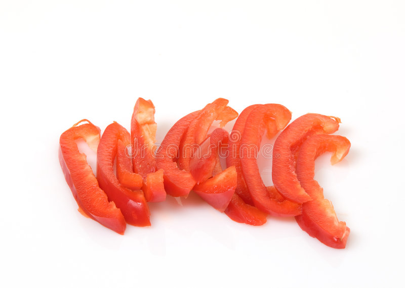 Download Red Bell Peppers Sliced stock photo. Image of diet, peppers - 9062236