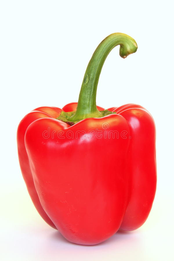 Red bellpepper. Isolated on a white background stock photos