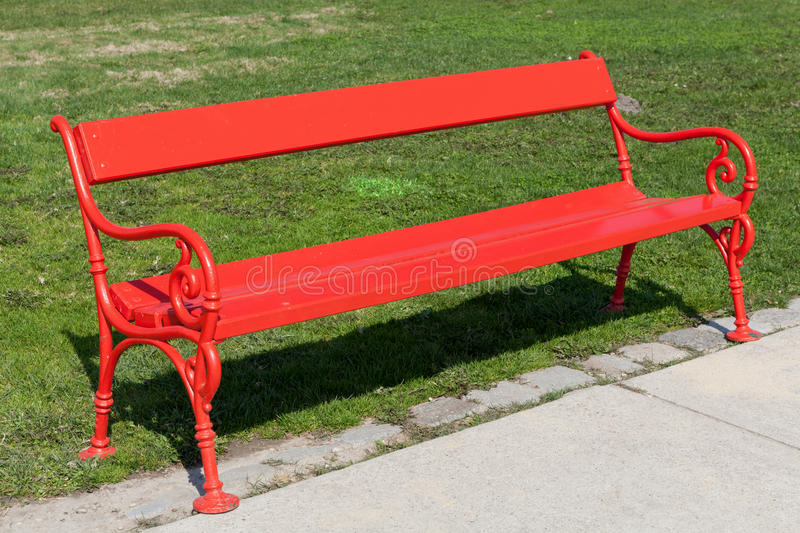 Download Red bench stock photo. Image of wood, outdoors, flowers - 26574182