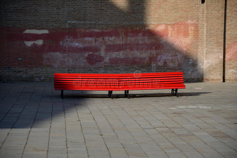 Download Red bench in Venice, Italy editorial stock image. Image of retro - 83705639