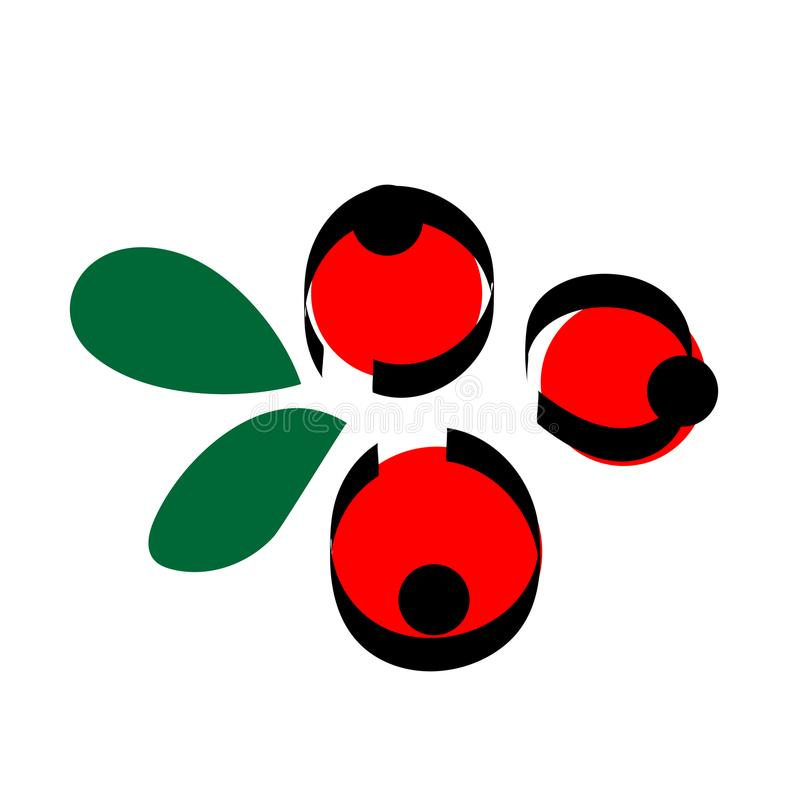 Red berrys icon vector illustration