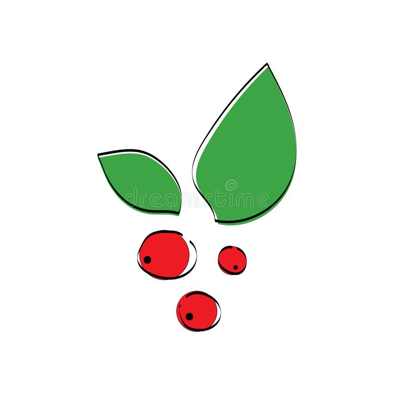 Red berrys icon stock illustration