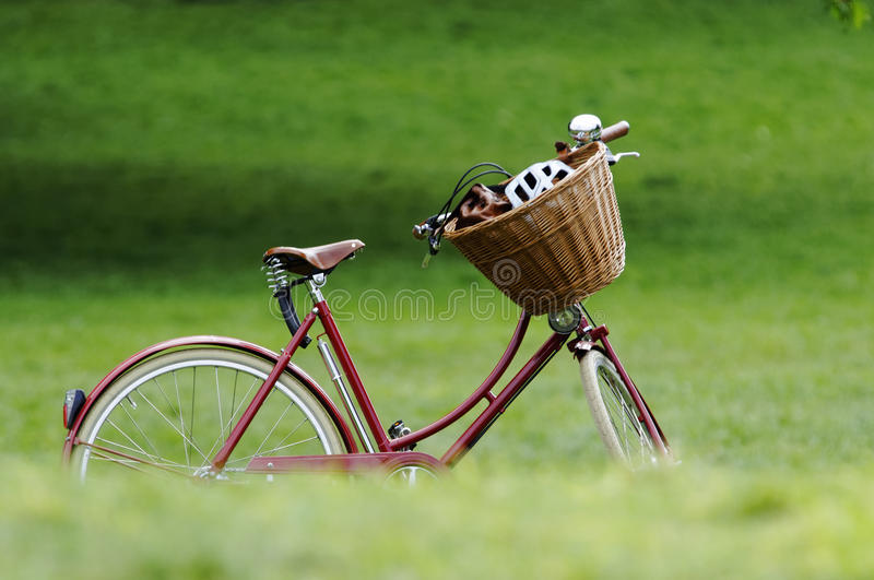 Download Red bicycle stock image. Image of outdoors, transportation - 25646625