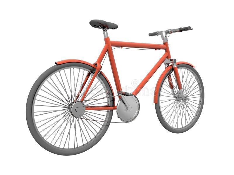 Download Red bicykle stock illustration. Image of brake, nexus - 2650183