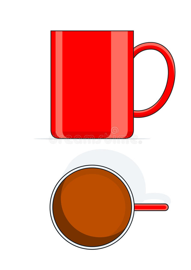 Download Red big cup stock vector. Image of drinking, tableware - 22066423