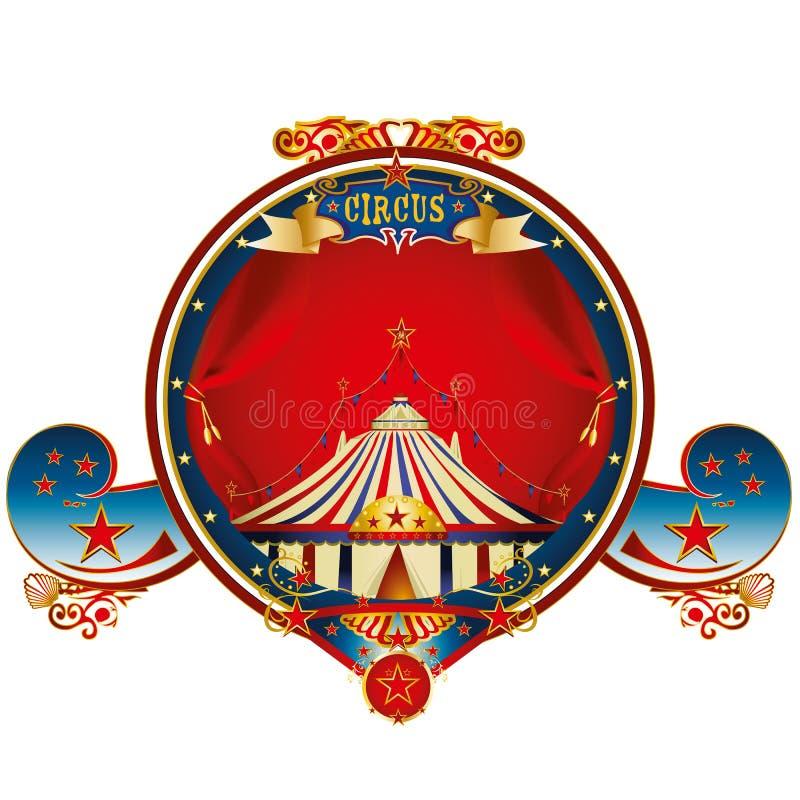 Red big top circus frame royalty free stock image