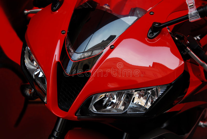Red bike stock images