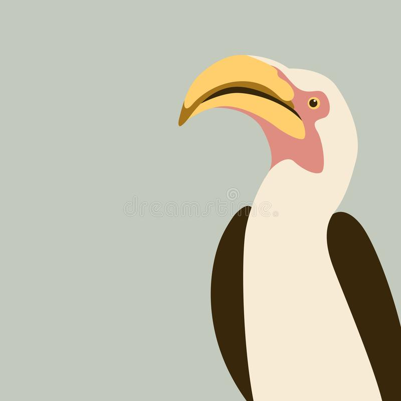 Hornbill Bird- Vector Sign Symbol  Hornbill Illustration