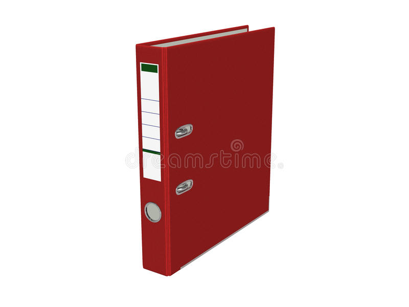 Red binder. Isolated on white background royalty free illustration