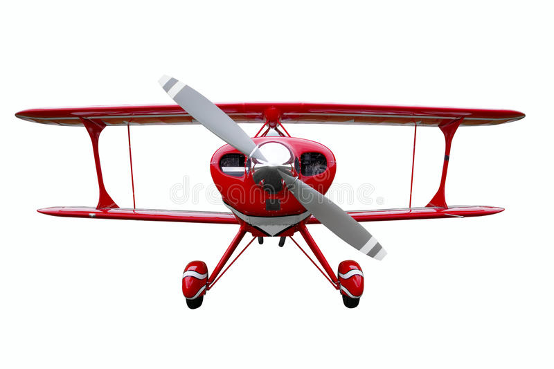 Red Biplane Cut Out Stock Photography
