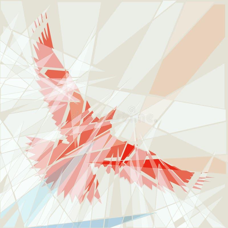 Download Red bird stock vector. Image of vector, flight, shattered - 25327085