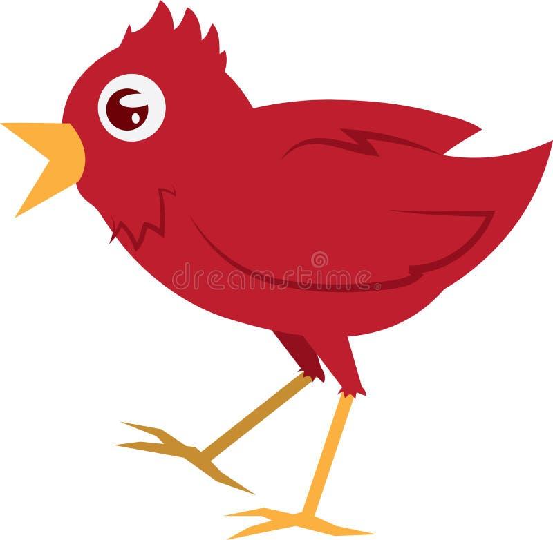 Download Red Bird Walking stock vector. Image of cartoon, little - 23158299