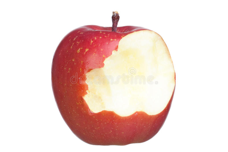 Red and bite apples stock photography