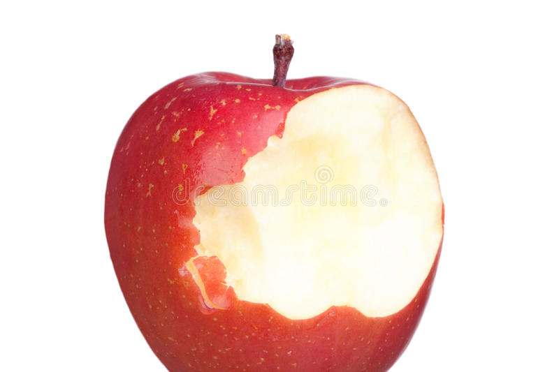 Red and bite apples royalty free stock images
