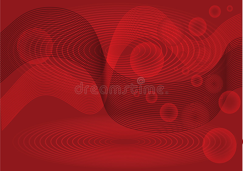 Red And Black Abstract Stock Images