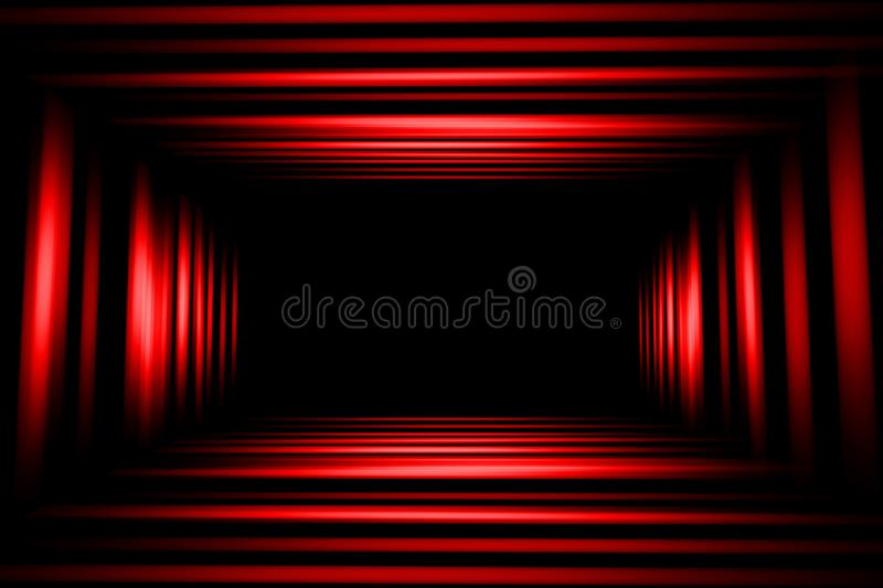 Red and black abstract background, blur motion stock illustration