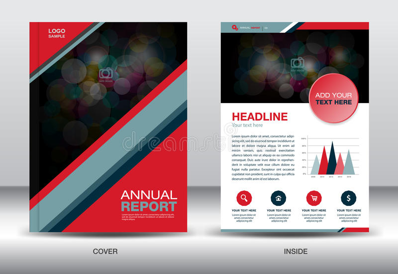 Red and black Annual report template and info graphics elements,cover design,brochure flyer,book,leaflet,vector template vector illustration