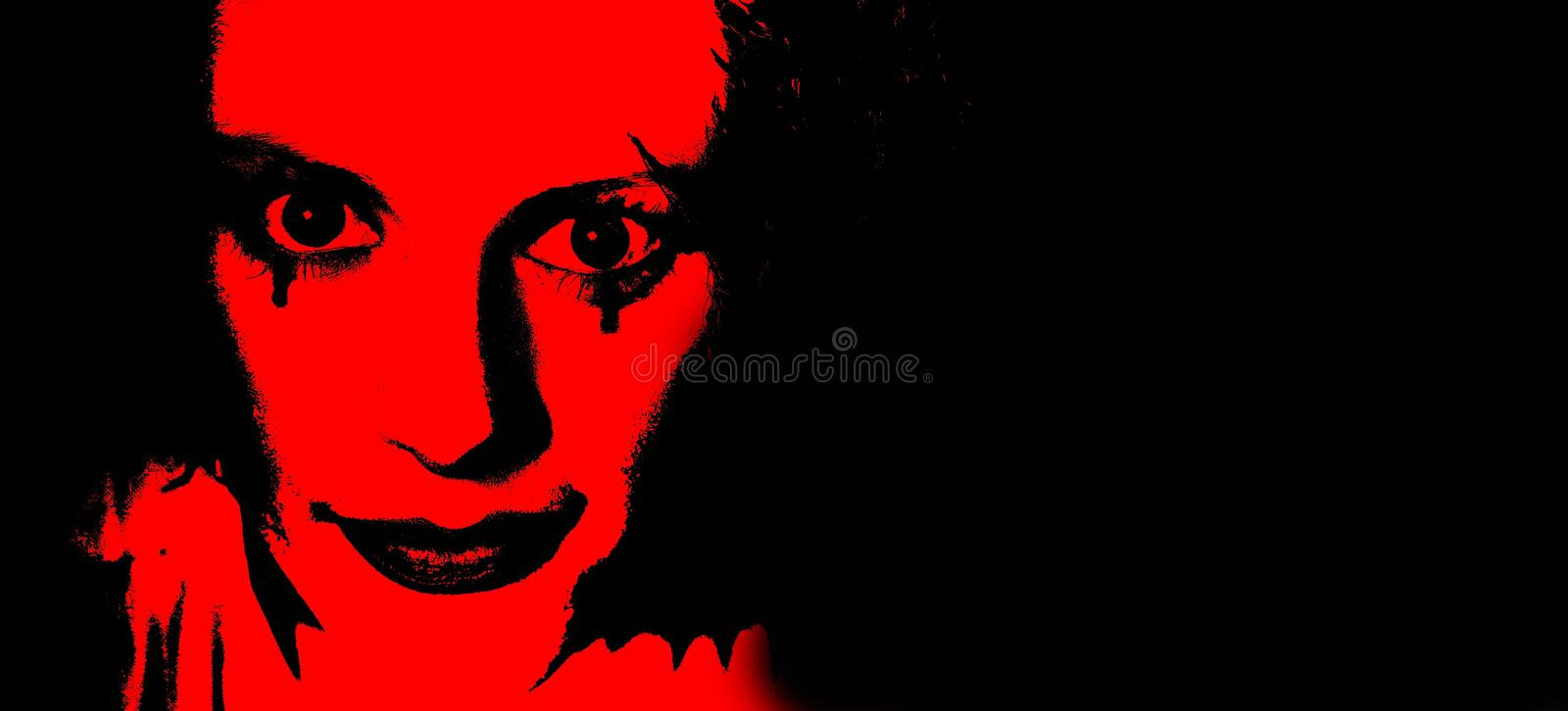 Red, Black, Art, Fictional Character stock images