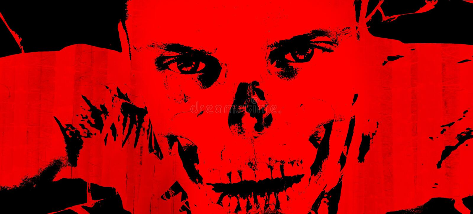 Red, Black, Art, Illustration royalty free stock photos