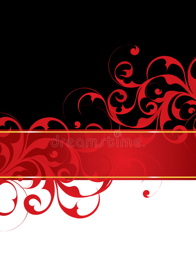 Red and black background stock illustration