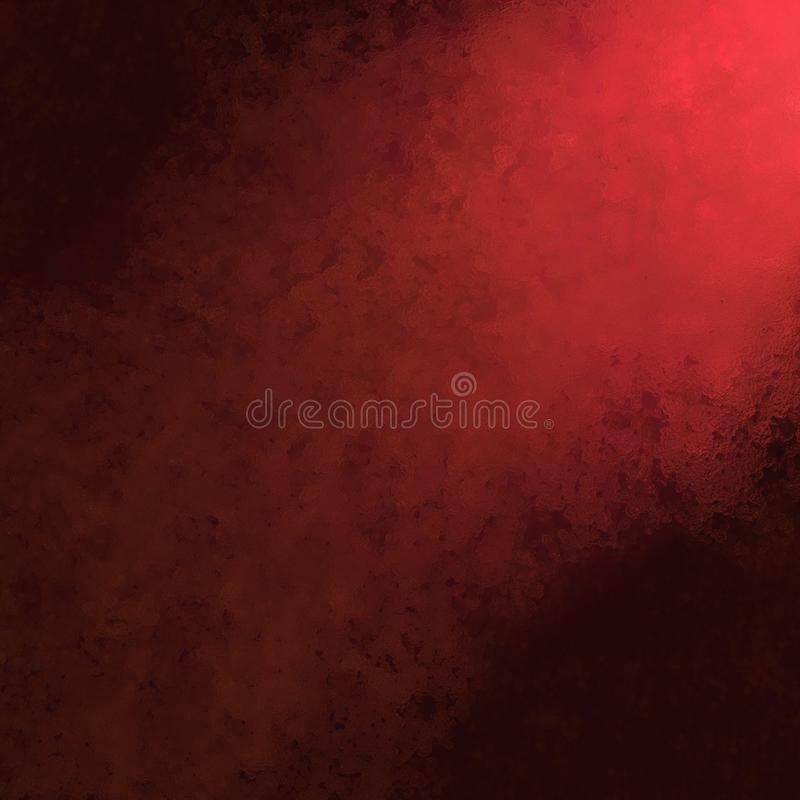 Red and black background with rough glassy texture and corner spotlight royalty free stock photo