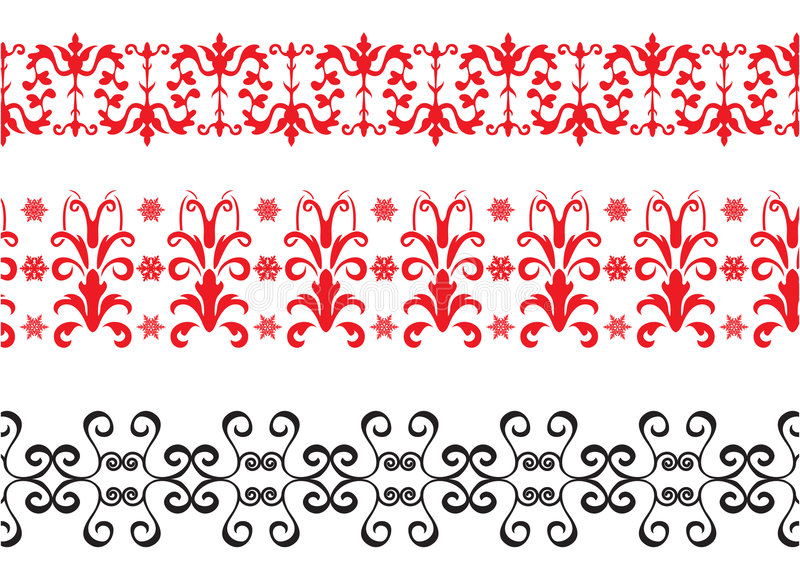 Red and black borders stock illustration