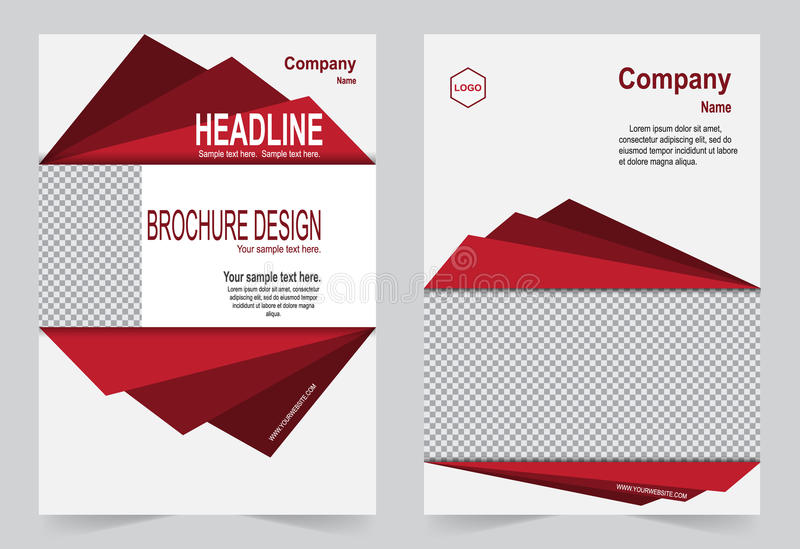 Red and black brochure template flyer design stock illustration