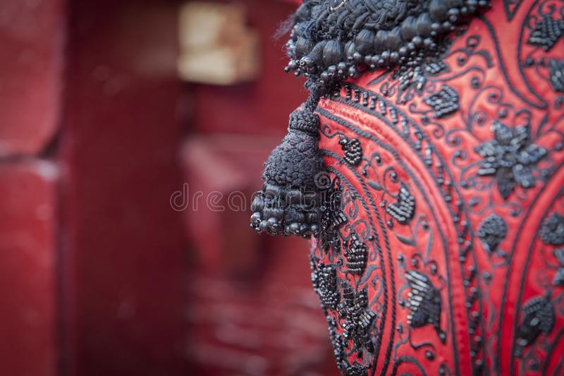 Red and Black bullfighter costume royalty free stock photos
