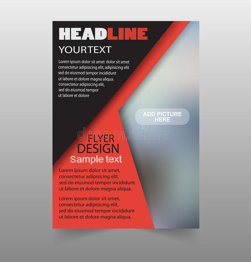 Red and black business annual report brochure flyer design template royalty free illustration