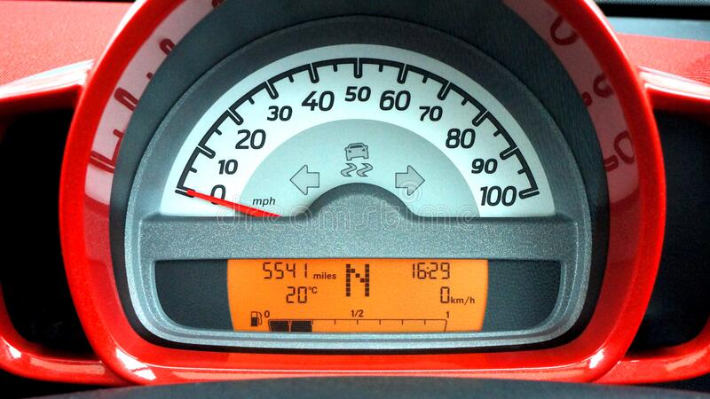 Red And Black Car Speedometer At Neutral Free Public Domain Cc0 Image