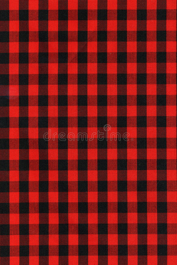 Download Red And Black Checkered Fabric Texture Stock Image - Image: 7395001