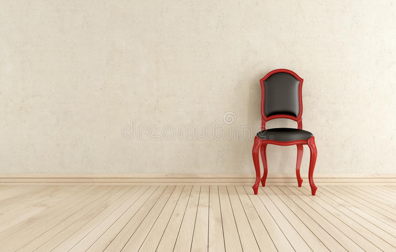 Download Red And Black Classici Chair Against Wall Stock Illustration - Image: 24560795