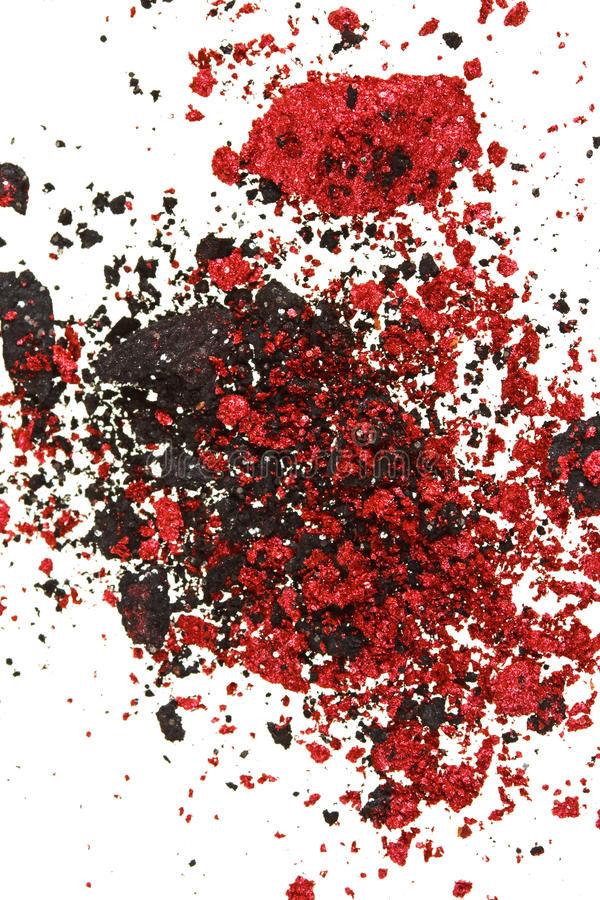 Download Red And Black Color Crumbled Eye Shadows Stock Image - Image: 17270423