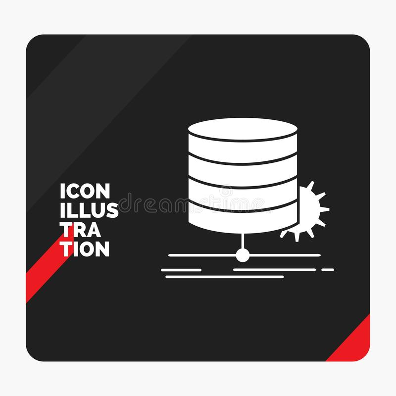 Red and Black Creative presentation Background for Algorithm, chart, data, diagram, flow Glyph Icon. Vector EPS10 Abstract Template background stock illustration