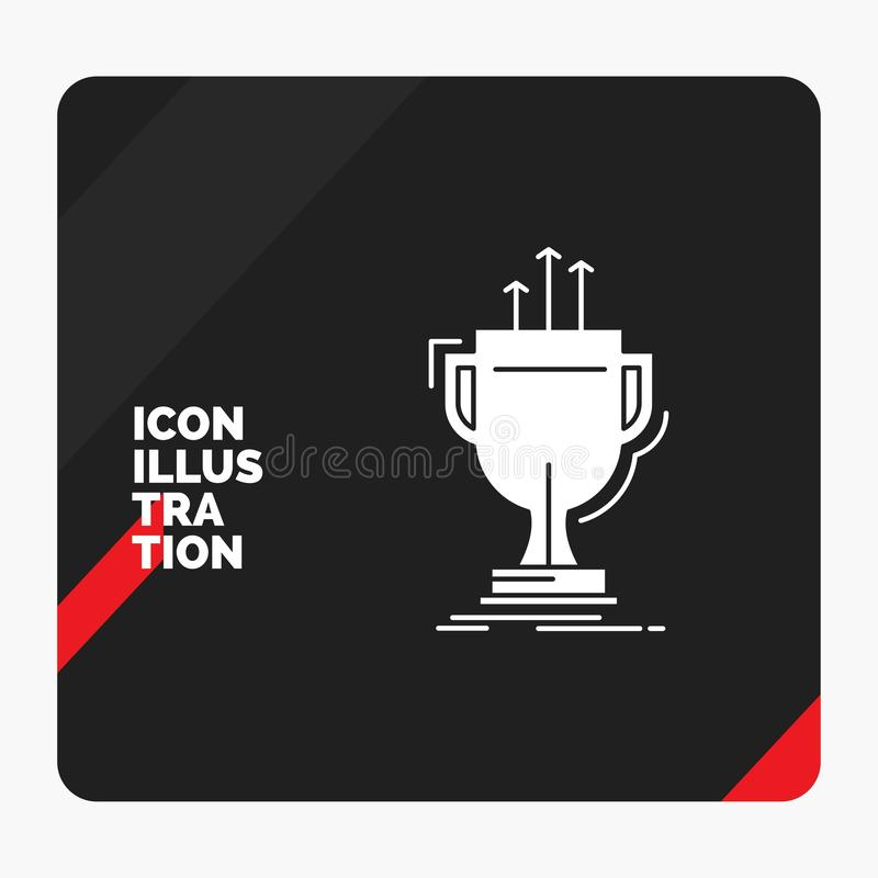 Red and Black Creative presentation Background for award, competitive, cup, edge, prize Glyph Icon. Vector EPS10 Abstract Template background royalty free illustration