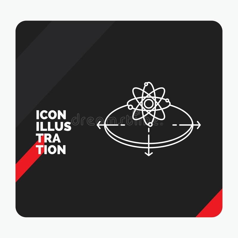 Red and Black Creative presentation Background for Business, concept, idea, innovation, light Line Icon vector illustration