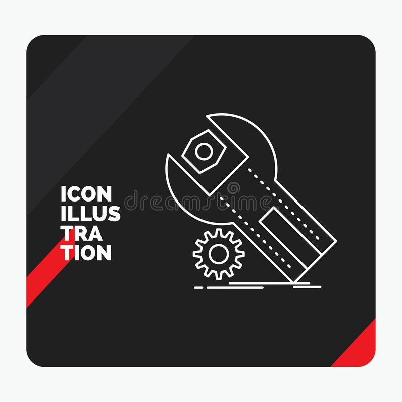 Red And Black Creative Presentation Background For Settings App Installation Maintenance Service Line Icon Stock Vector Illustration Of Settings Configuration 145251685