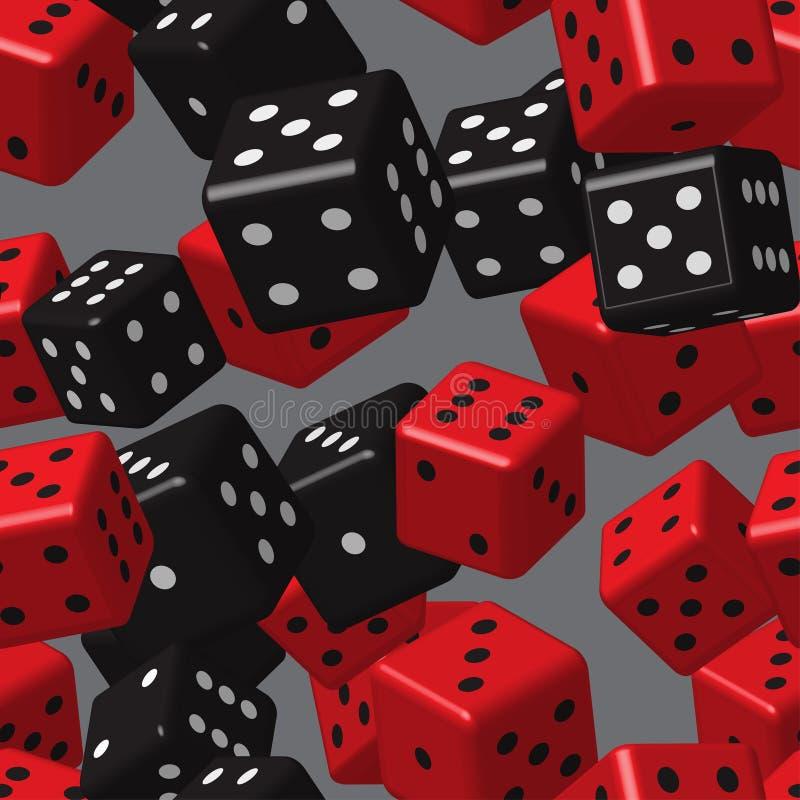 Free Red Black Dice Seamless Pattern Stock Photo - 110087070