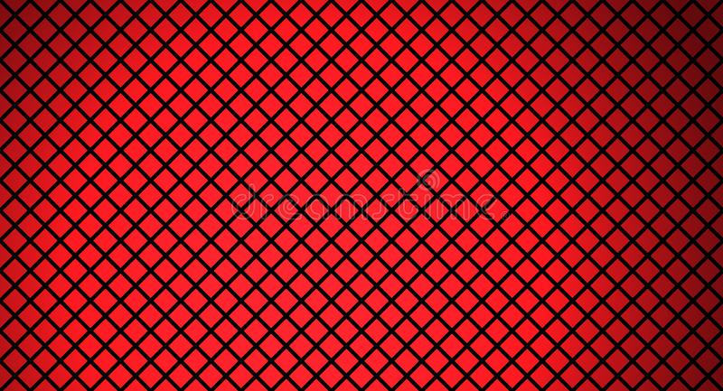 Red and black grid. Red and black backround diamond grid vector illustration