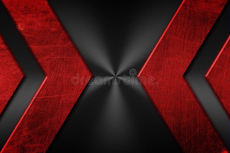 Red and black grunge metal background royalty free illustration