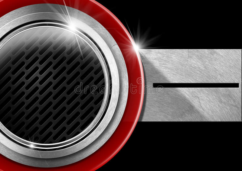 Download Red Black And Metal Abstract Background Stock Illustration - Image: 37222317